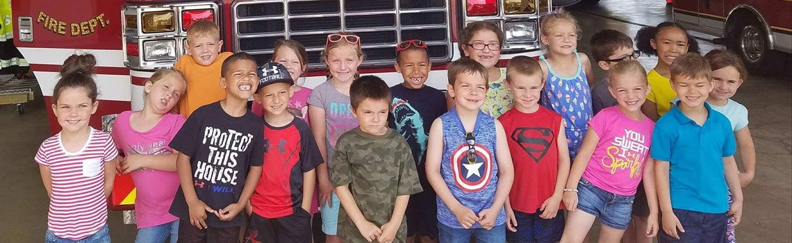 Emerson Pride - Emerson kindergartners visit the Sidney Fire Department to see all of the equipment and gear, and learn more about fire safety.