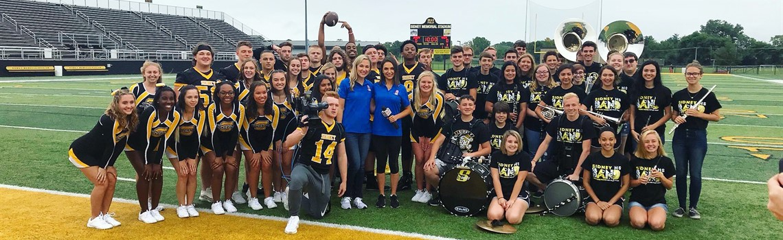 Thursday Night Lights - SHS Football, Cheer and Band hang with ABC22/Fox45 crew leading up to the Thursday Night Lights game on August 30.