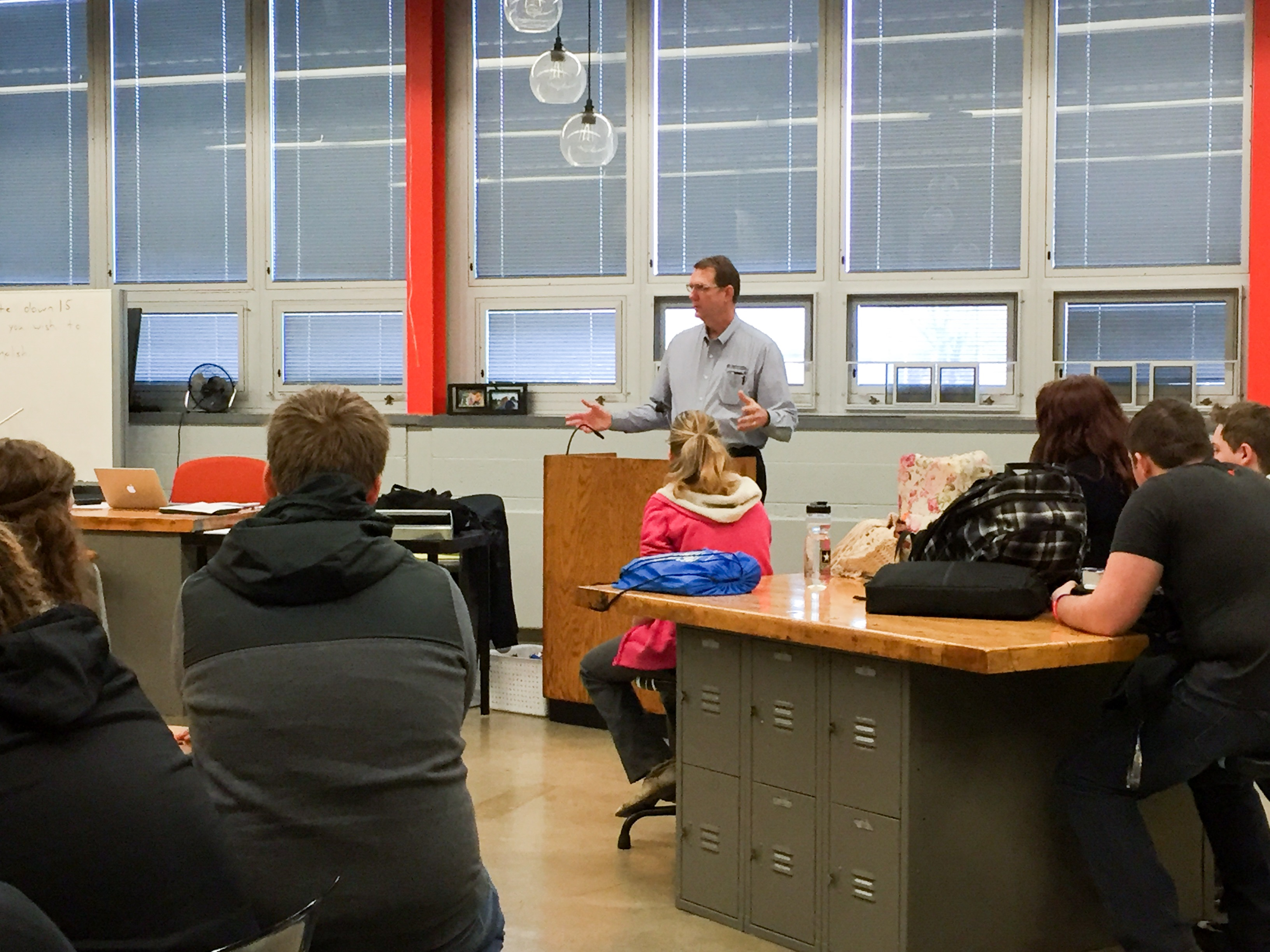 RCI's COO, Wayne Thompson, shares about scholarship and job opportunities with SHS RCI Academy students.