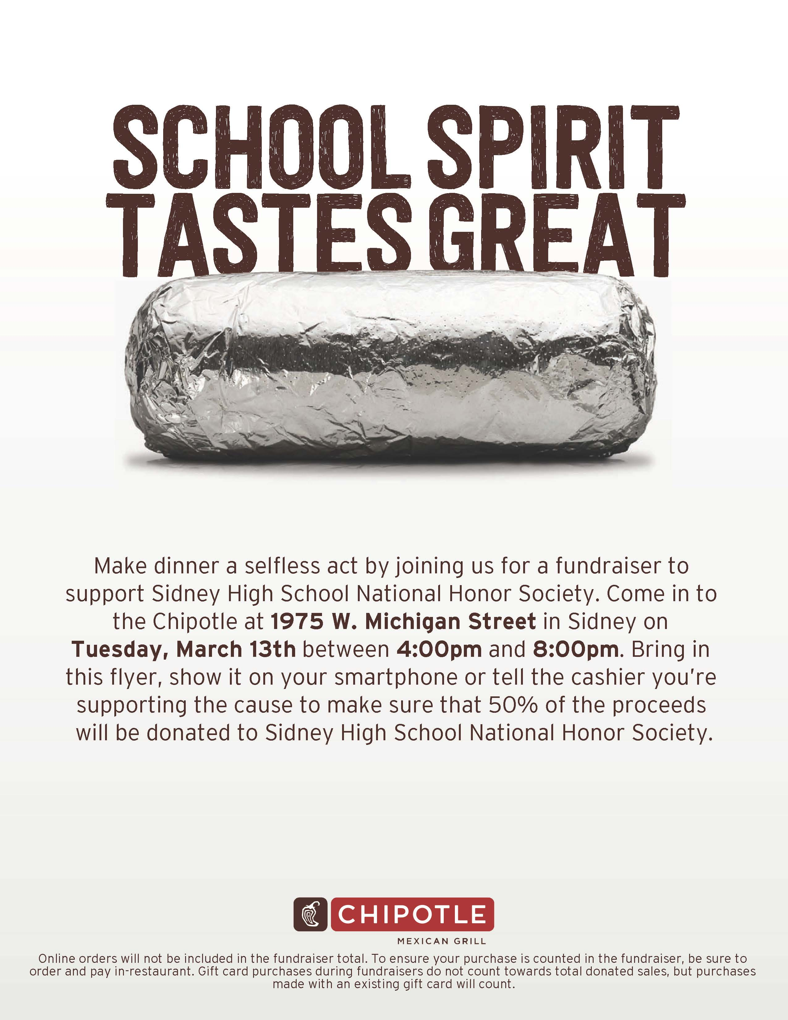 NHS Chipotle Flyer