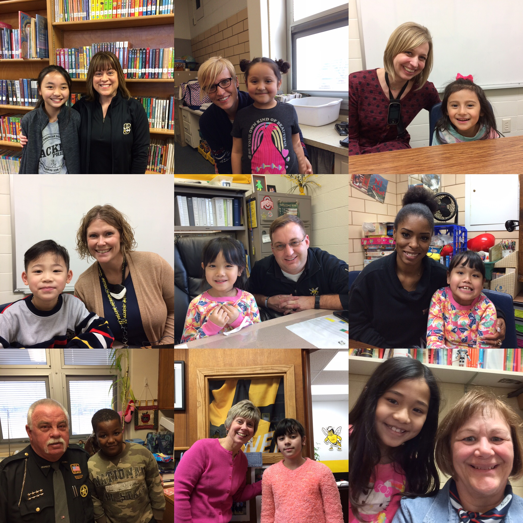 ELL students with the staff they interviewed - Marshall, Uhl, Geissel, Miller, Barr, Foy, Shepherd, Dembski, Stratton