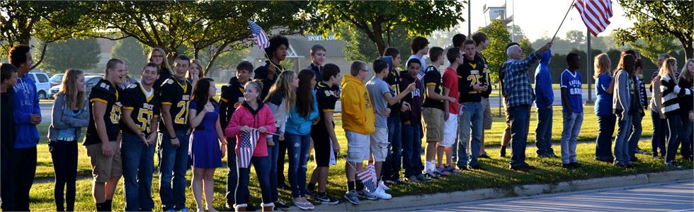 Sidney High School supports our veterans.